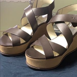 Brand New Micheal Kors Leather wedges